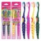 思诚良品 儿童纳米软毛牙刷 磨尖刷丝 卡通创意儿童牙刷2支装批发